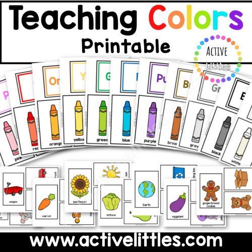 Teaching Colors Printable for Kids