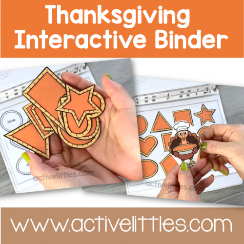 Thanksgiving Interactive Binder