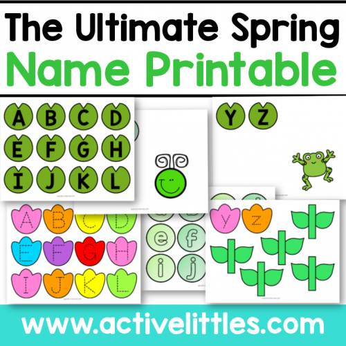 The Ultimate Spring Name Printable for kids - Active Littles