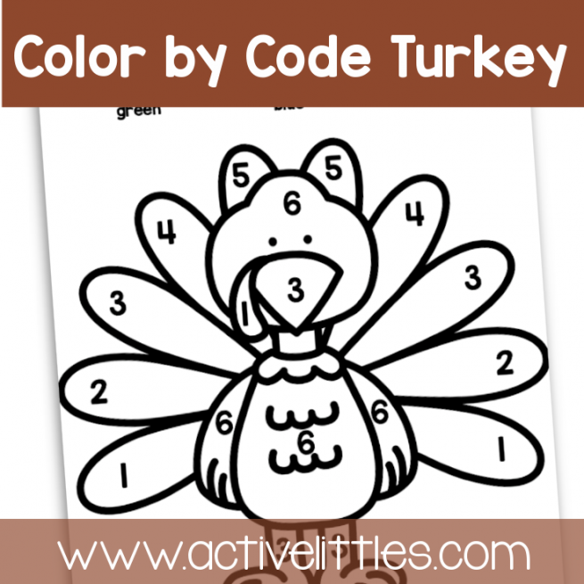 Turkey Coloring Match Page toddler printable