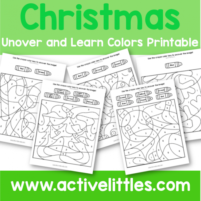 Uncover and Learn Colors Printable - Active Littles dot marker printable
