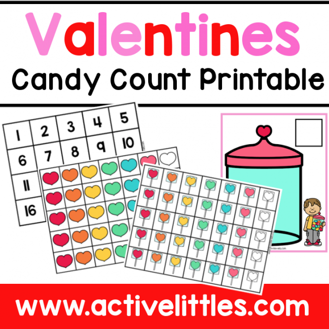 Valentines Candy Count Printable