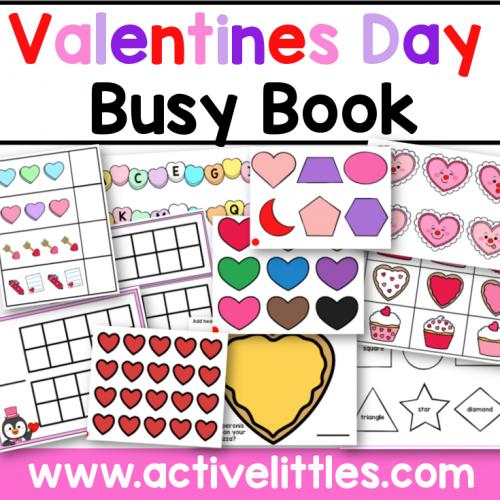 Valentines Day Busy Book Activity Binder