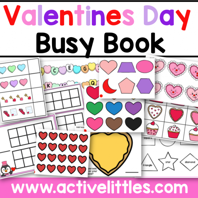 Valentines Day Busy Book Activity Binder