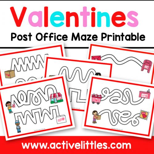 Valentines Post Office Maze Printable