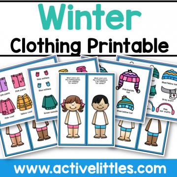 Winter Clothing Dressup Printable