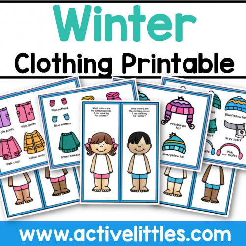 Winter Clothing Dressup Printable