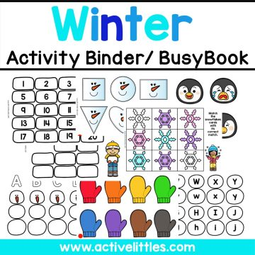 Winter Busy Book Activity Binder