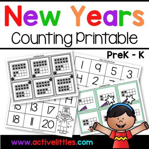 New Years Counting Preschool Printable