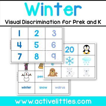 Winter Preschool and Kindergarten Printable