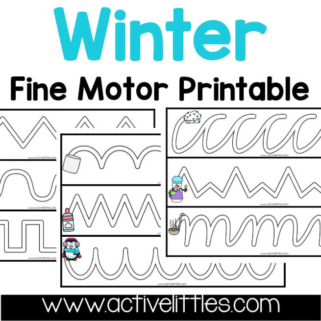 Winter Tracing Fine Motor Activity Printable preschool printable