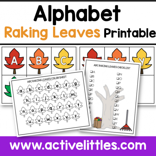 alphabet raking leaves printable