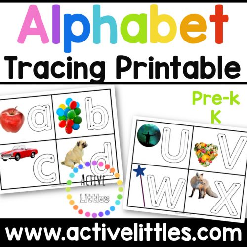 alphabet traing cards real images