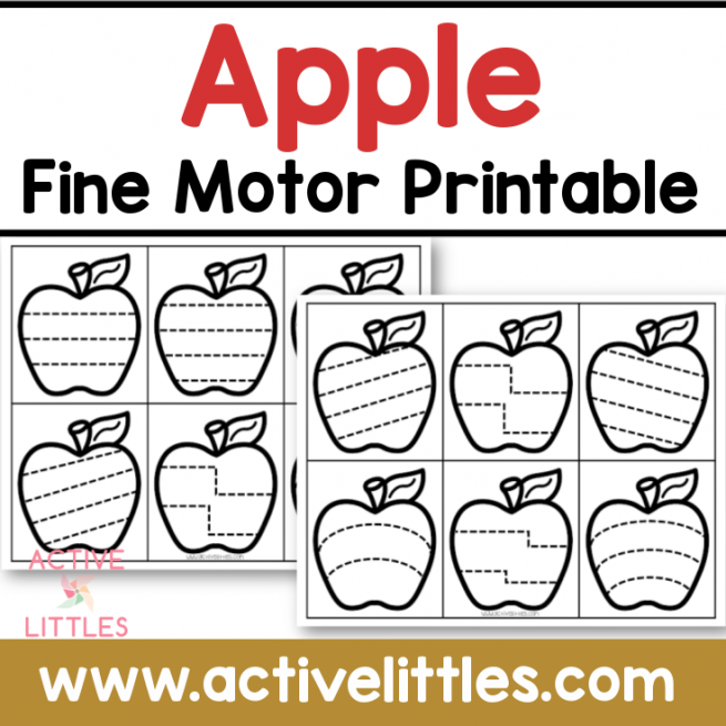 apple fine motor printable preschool toddler