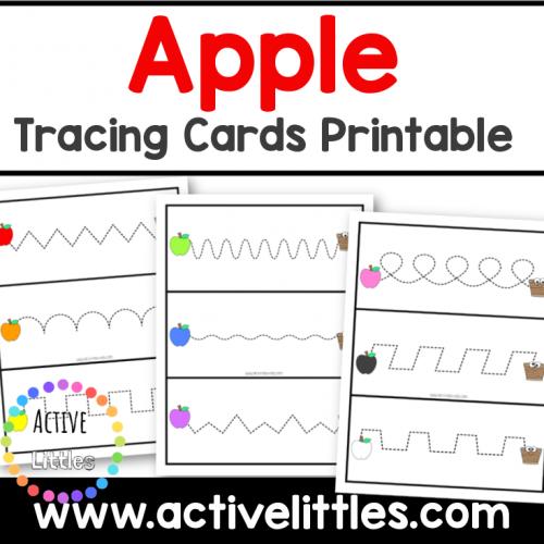 apple tracing cards maze printable