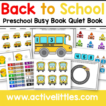 back to school busy book