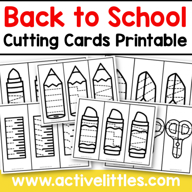 back to school fine motor cutting cards printable