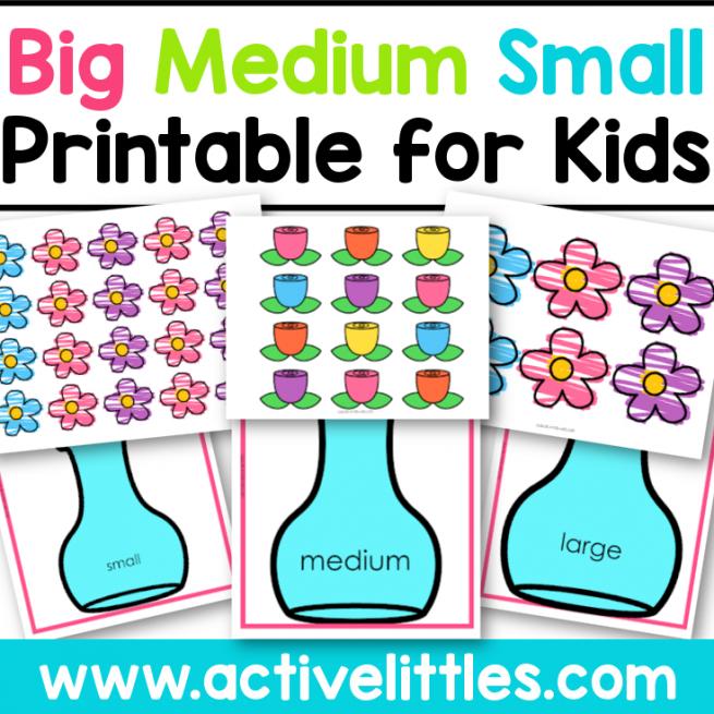 big medium small printable for kids