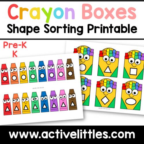 crayon boxes shape sorting preschool printable