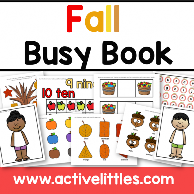 Fall Activity Binder Busy Book