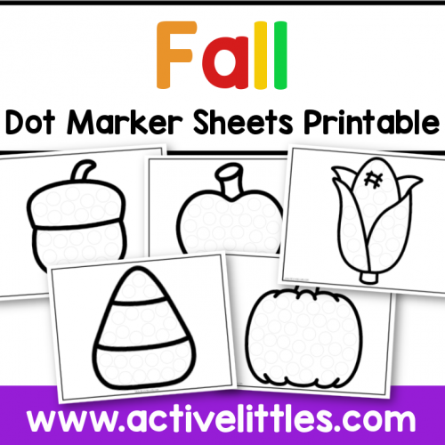 fall dot marker printable preschool