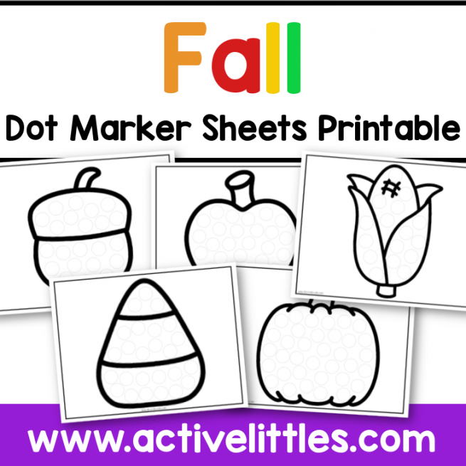 fall dot marker printable preschool