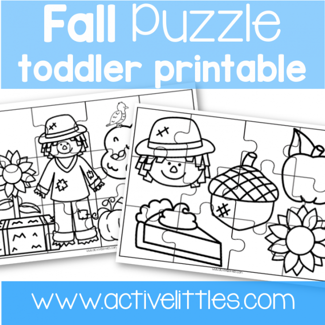 fall puzzle game printable