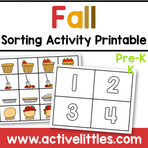 fall sorting activity printable for preschool