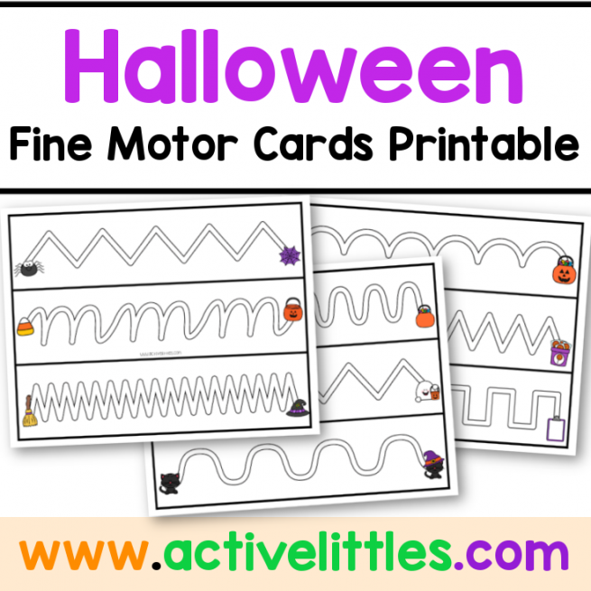halloween fine motor cards printable preschool