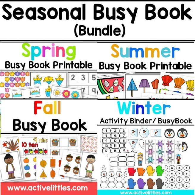 seasonal toddler busy book bundle