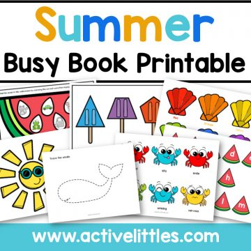 summer activity binder busy book