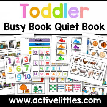 toddler busy book activity binder