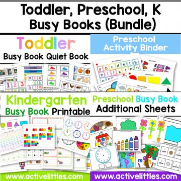 toddler busy book preschool busy book kindergarten busy book activity binder