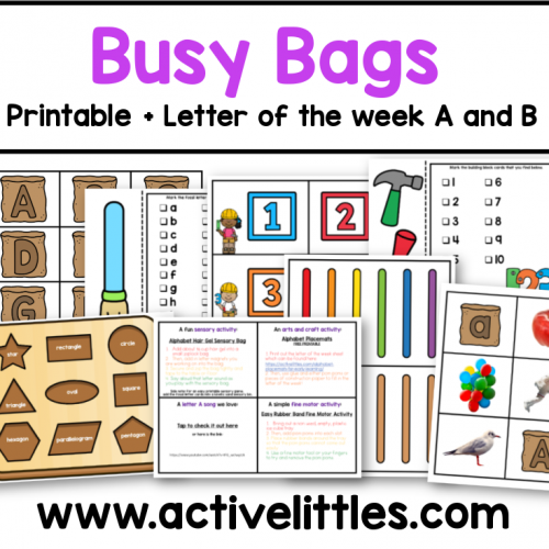 busy bags ideas preschool printables