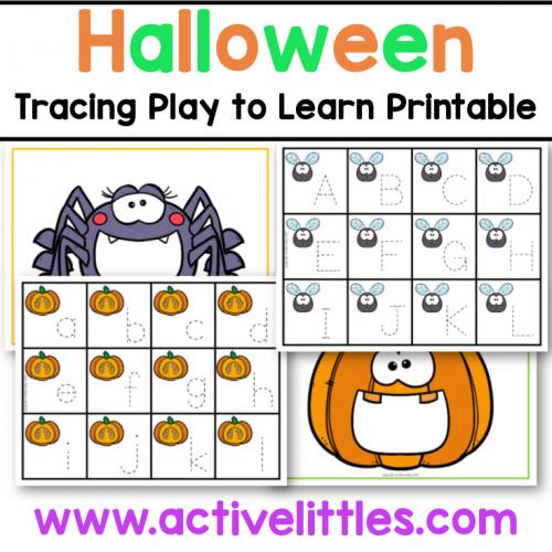 halloween tracing play to learn preschool printable