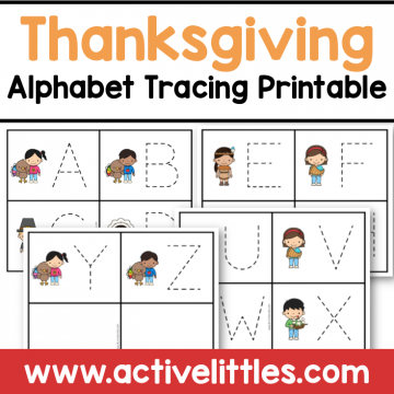 thanksgiving alphabet tracing cards