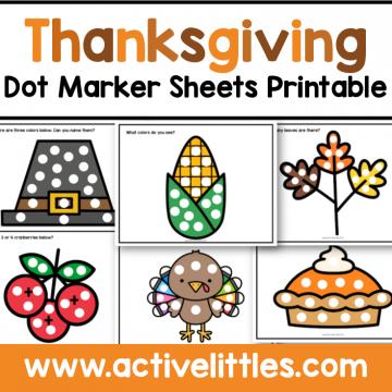 thanksgiving printable dot marker sheets