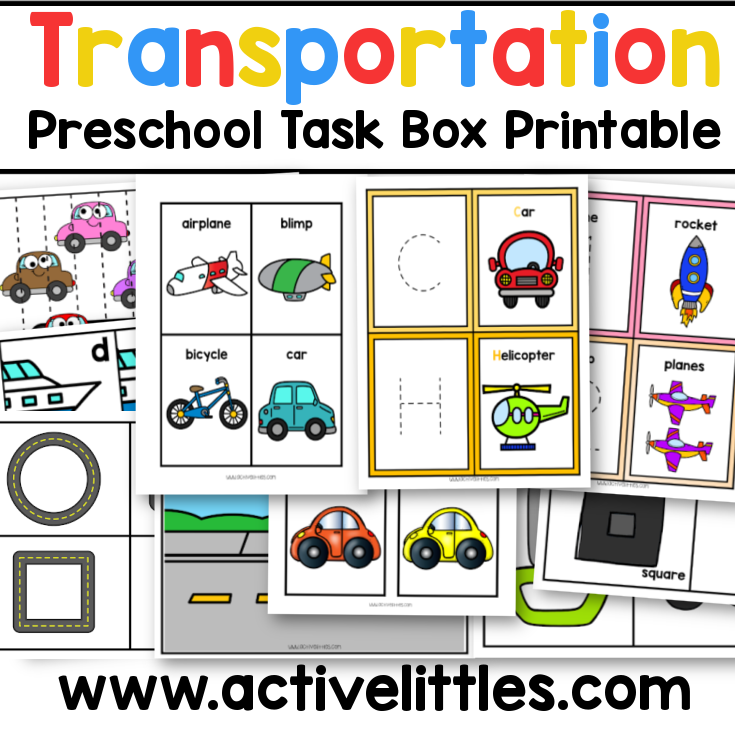 transportation preschool busy book task box