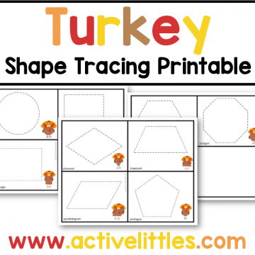 turkey tracing shape printable