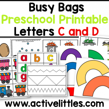 busy bag ideas printable for preschool toddlers