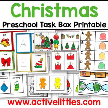 christmas preschool task box printable