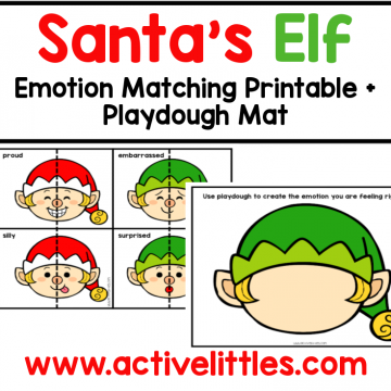 santas elf emotion preschool printable