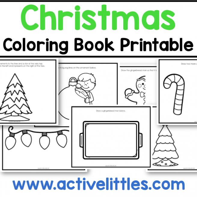 christmas coloring book preschool printable