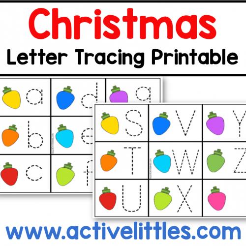 christmas letter tracing preschool printable