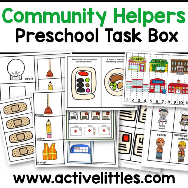 community helpers preschool printable