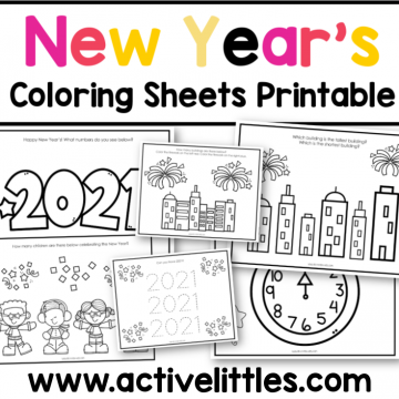 new years coloring sheets free printable