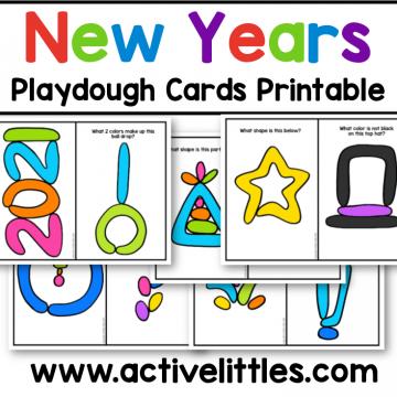 new years eve playdough cards printable