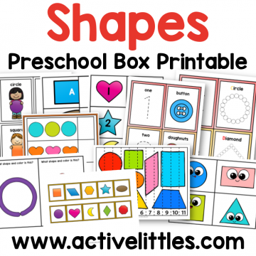 shapes preschool printable