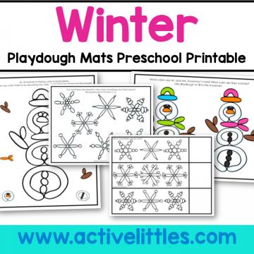 winter playdough mat preschool printable