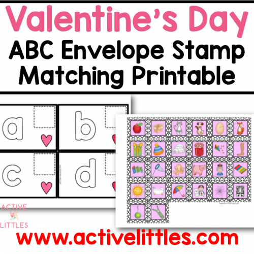 valentines abc envelope stamp matching printable for kids
